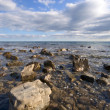 Sea coast, boulders, stones, clear water — Stock Photo #2134719