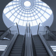 Empty escalator - Stock Photo