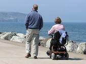 Couple on promenade — Stock Photo