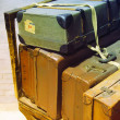 Stock Photo: Retro suitcases