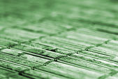 Bamboo table runner — Stock Photo