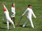 Cricket players — Stock Photo