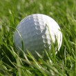 Golfball in grass — Stock Photo