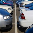 Stock Photo: Crowded car park