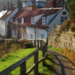 Stock Photo: Sandsend Cottages