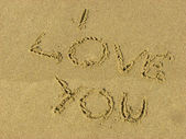 Sand message — Stockfoto