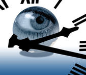 Eye in time — Stock Photo