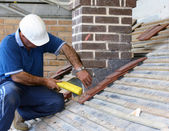 Trainee roofer — Stockfoto