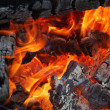 Burning timbers — Stock Photo