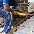 Roofer trainee — Stock Photo