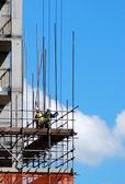 Scaffolding on building — Stock Photo