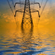 Flooded pylon - Stock Photo