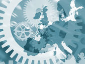 Clockwork Europe — Stock Photo