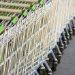 Stock Photo: Supermarket trolleys
