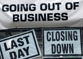 Closing down — Stock Photo