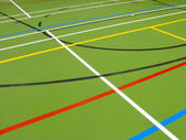 Sports hall floor — Stock Photo