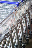 Supermarket trollies — Stock Photo