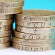 Stock Photo: UK pound coins