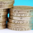 UK pound coins — Stock Photo