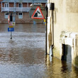 Stockfoto: Flooded traffic signs