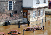 River Ouse floods — Stock Photo
