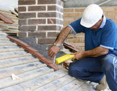 Trainee roofer — Stock Photo