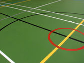 Sports hall floor markings — Stock Photo