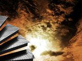 Pasos con cielo dramático — Foto de Stock