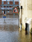 Flooded traffic signs — Stock Photo