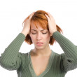 Woman with Headache — Stockfoto