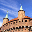 Great Barbican Fortification in Cracow — Stock Photo