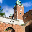 Entrance Gate to the Wawel Royal Castle — Stock Photo