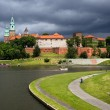Wawel Royal Castle and Vistula River — Stock Photo