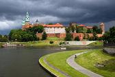 Wawel Royal Castle and Vistula River — Stock Photo