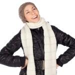 moda de invierno por una mujer bonita risa — Foto de Stock