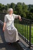 Senior Woman Smiling with Joy — Stock Photo