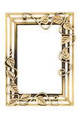 Empty Golden Decorative Frame — Stock Photo
