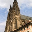 St Vitus Gothic Cathedral Towers - Stock Photo