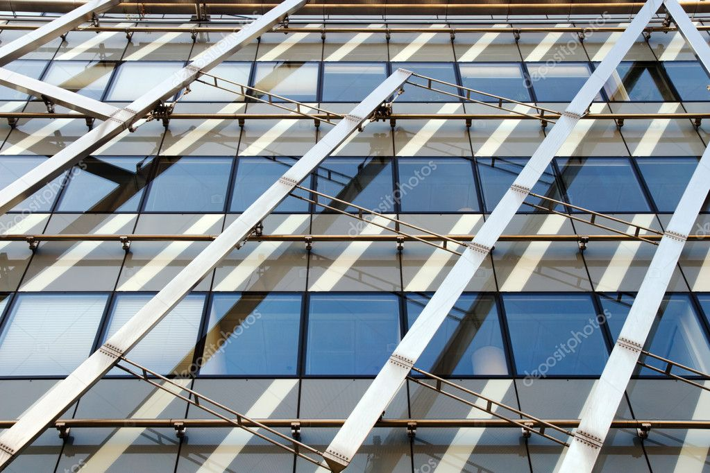 Futuristic, abstract shape of modern office building. — Stock Photo #2099401