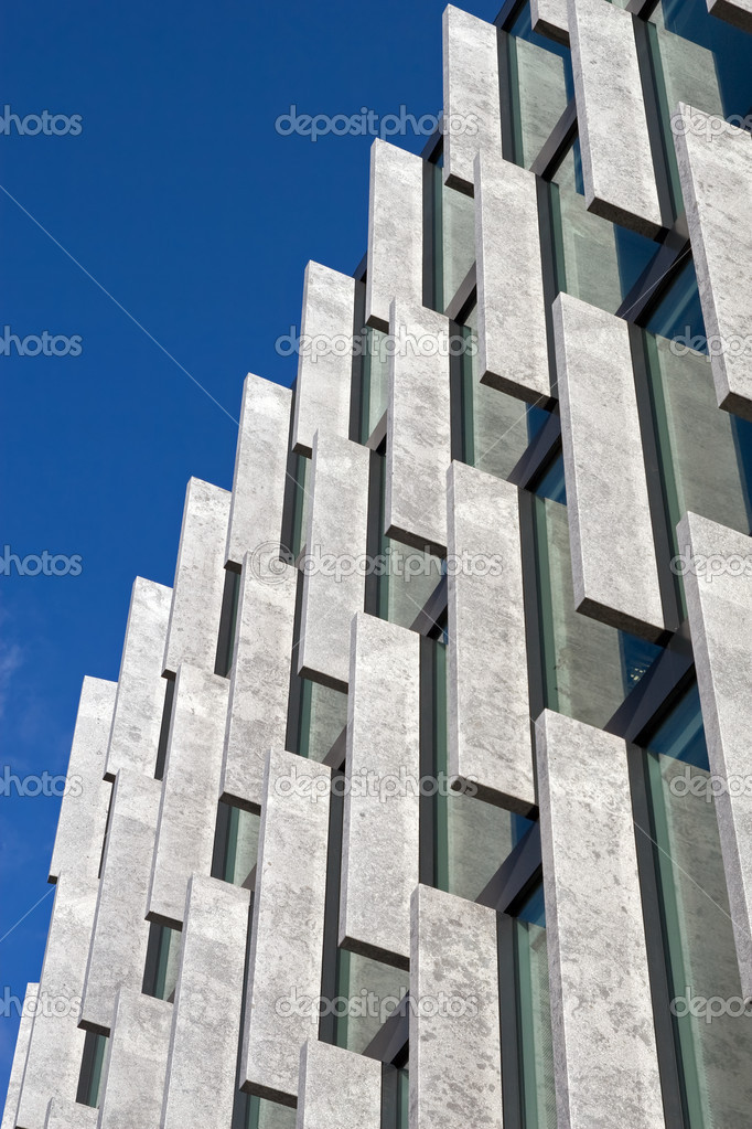 Modern abstract architecture of the office building.  Stock Photo #2099907