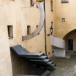 Courtyard Abstract Architecture — Stockfoto