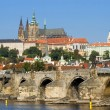 Prague Castle and Charles Bridge — Stock Photo