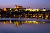 Prague Castle at Dusk — Stock Photo
