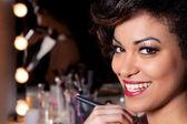 Young Woman Makeup Session Portrait — Stock Photo