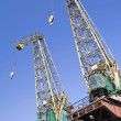 Shipyard Cranes — Stock Photo