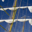 Lowered Sails — Stock Photo