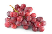 Red Grapes on White — Stock Photo