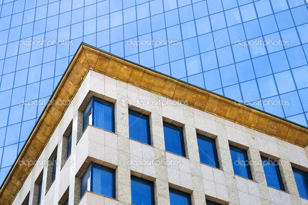 Close-up on modern office building architecture details. — Stock Photo #2504972