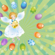 Stock Photo: Easter reason with angel-1