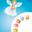 Easter reason with an angel-1 — Stock Photo